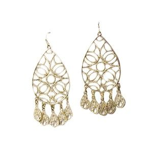Tigerstars Rose Gold Filigree Chandelier Earring